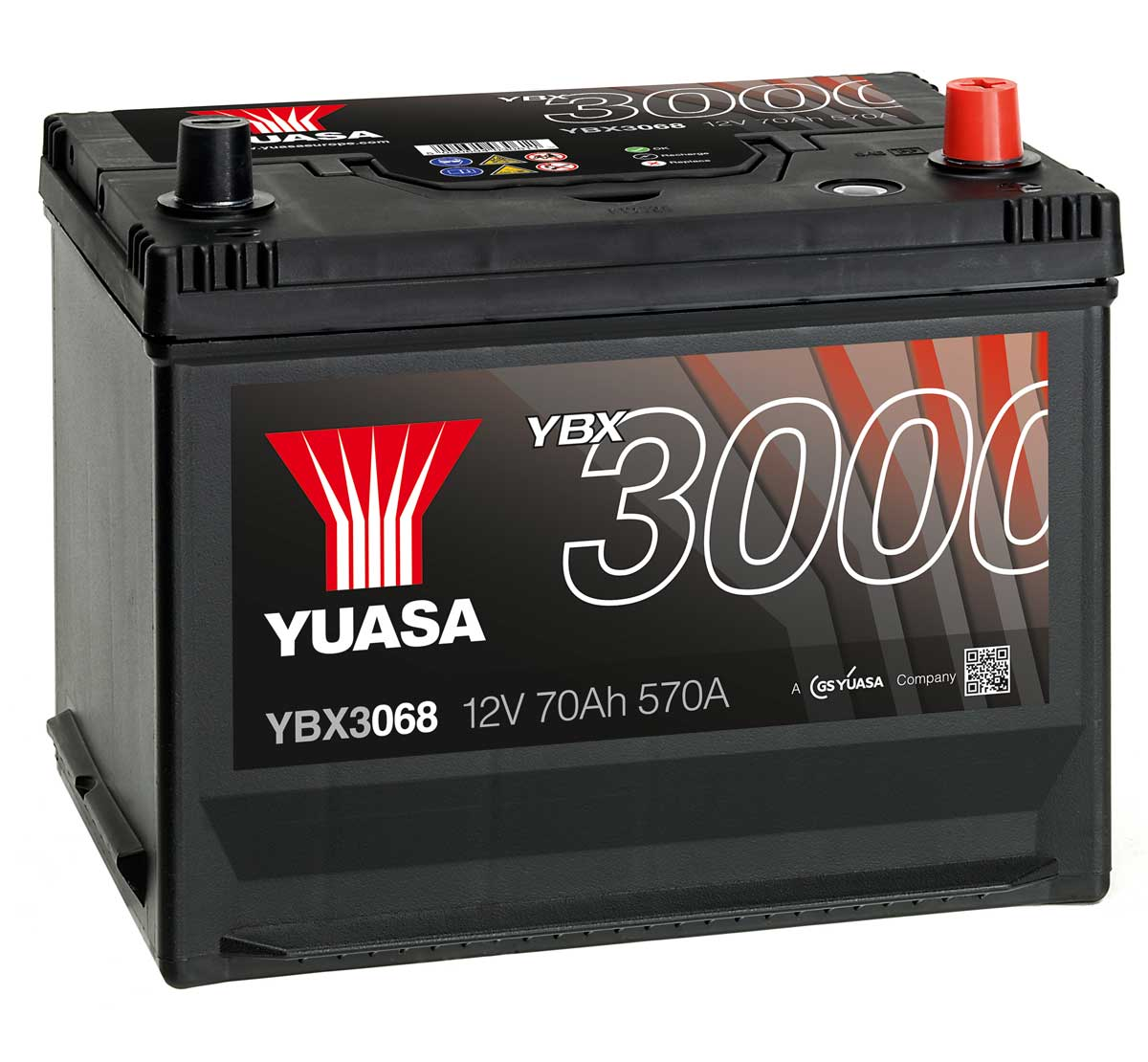 yuasa ybx3068 12v car battery mds battery. Black Bedroom Furniture Sets. Home Design Ideas
