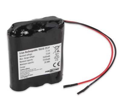 Ansmann Industrial 3S1P 11.1V 2600mAh Rechargeable Li-ion Battery Pack