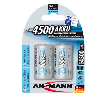 Ansmann C Rechargeable Batteries 4500mAh Pack 2