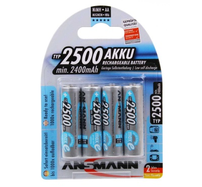 Ansmann AA Rechargeable Batteries 2500mAh Pack 4