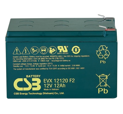 CSB EVX12120 12V 12Ah Cyclic Lead Acid Battery