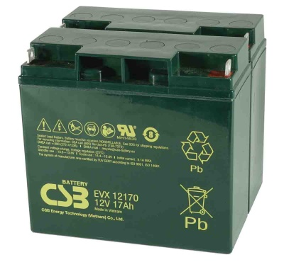 Pair of CSB EVX12170 12V 17Ah Mobility Scooter Batteries