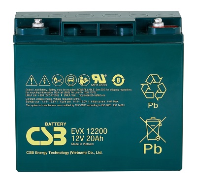 CSB EVX12200 12V 20Ah Cyclic Lead Acid Battery