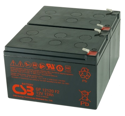 CSB GP12120 12V Sealed Lead Acid Battery - Pack of 2