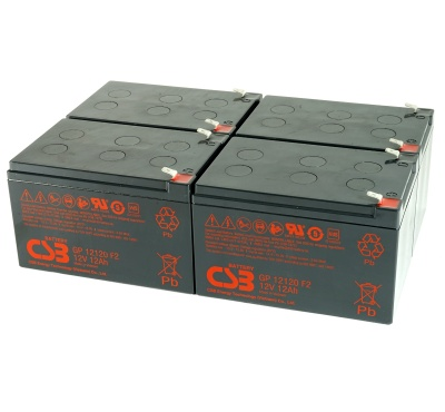 CSB GP12120 12V Sealed Lead Acid Battery - Pack of 4