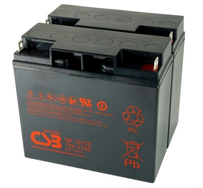 CSB GP12170 x 2 - 12v 17Ah Sealed Lead Acid Battery