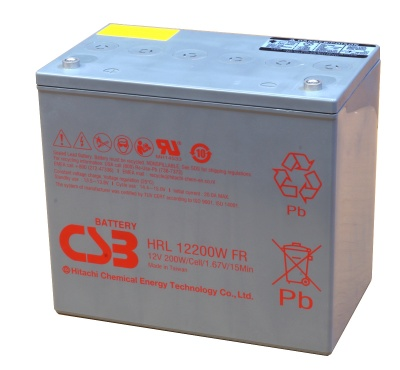 CSB HRL12200W 12V Sealed Lead Acid Battery