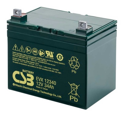 CSB EVX12340 12V 34Ah Cyclic Lead Acid Battery