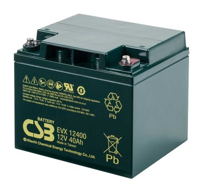 CSB EVX12400 12V 40Ah Cyclic Lead Acid Battery