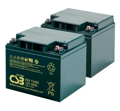 2 X CSB EVX12400 12V 40Ah Mobility Scooter Batteries