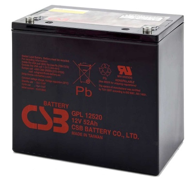 CSB GPL12520 12V 52Ah Sealed Lead Acid Battery