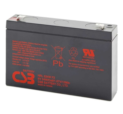 CSB HRL634W 6V 34W Sealed Lead Acid Battery