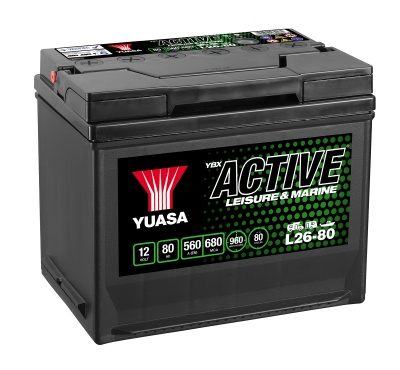 Yuasa YBX Active L26-80 Leisure Battery