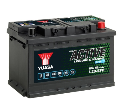 Yuasa YBX Active L28-EFB Leisure Battery