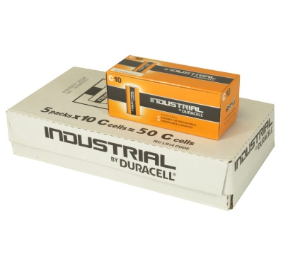 Duracell Industrial MN1400 C Cell Bulk Box of 50 Batteries