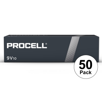 Duracell Procell MN1604 PP3 Bulk Box of 50 Batteries