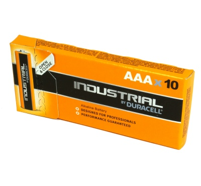 Duracell Industrial MN2400 AAA Box 10 Alkaline Battery
