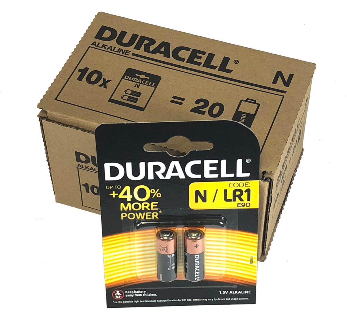 Duracell Batteries MN9100 N LR1 Battery Pack of 20