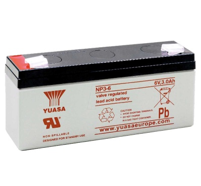 Yuasa NP3-6 6V Sealed Lead Acid Battery