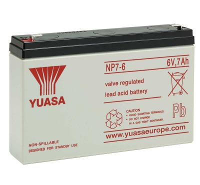 Yuasa NP7-6 6V 7Ah Sealed Lead Acid Battery