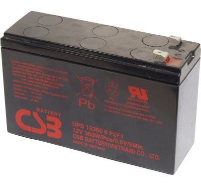 CSB UPS12360-6F2F1 12V 360W Lead Acid Battery