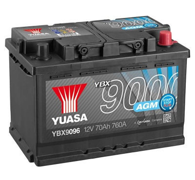 Yuasa YBX9096 AGM 12V 096 Car Battery
