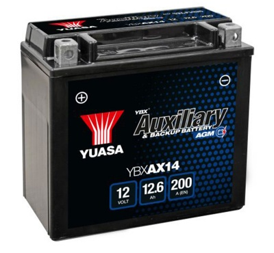 Yuasa YBXAX14 Auxiliary Battery for Audi & Mercedes