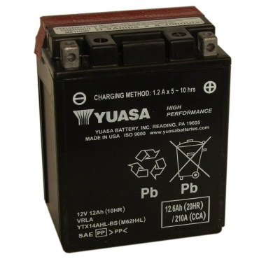 Yuasa YTX14AHL-BS 12V Motorcycle Battery