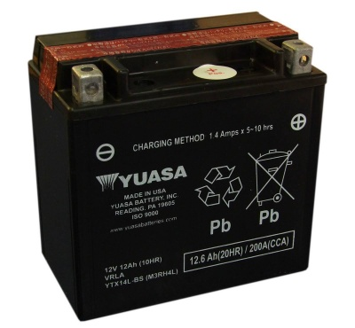Yuasa YTX14L-BS 12V Motorcycle Battery