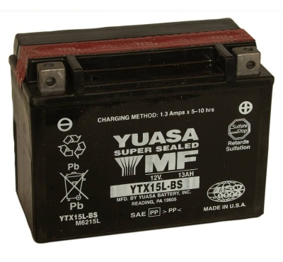 Yuasa YTX15L-BS 12V Motorcycle Battery