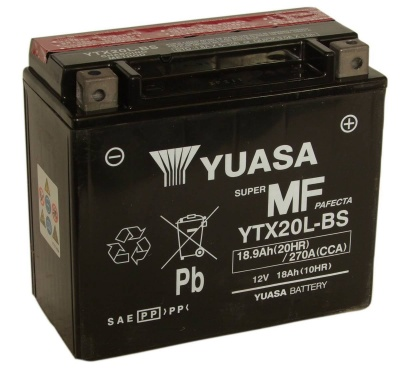 YTX20L-BS Yuasa Motorcycle battery