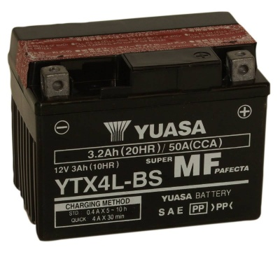 Yuasa YTX4L-BS 12V Motorcycle Battery