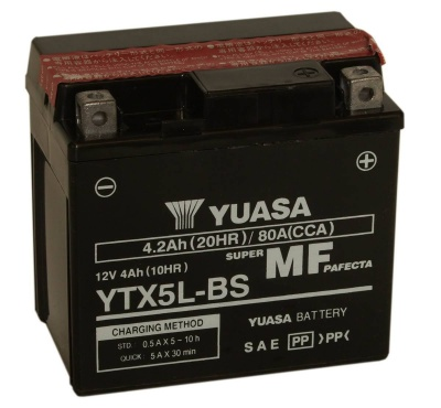 Yuasa YTX5L-BS 12V Motorcycle Battery