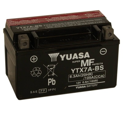Yuasa YTX7A-BS 12V Motorcycle Battery
