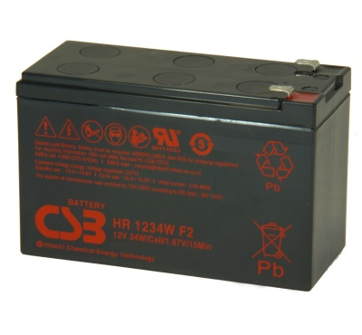 CSB HR1234W 12V 34W Sealed Lead Acid Battery