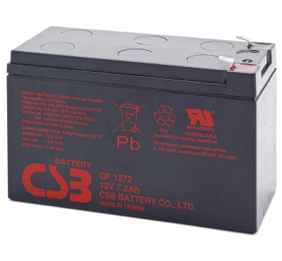 CSB GP1272 F2 12V 8.0Ah Lead Acid Battery