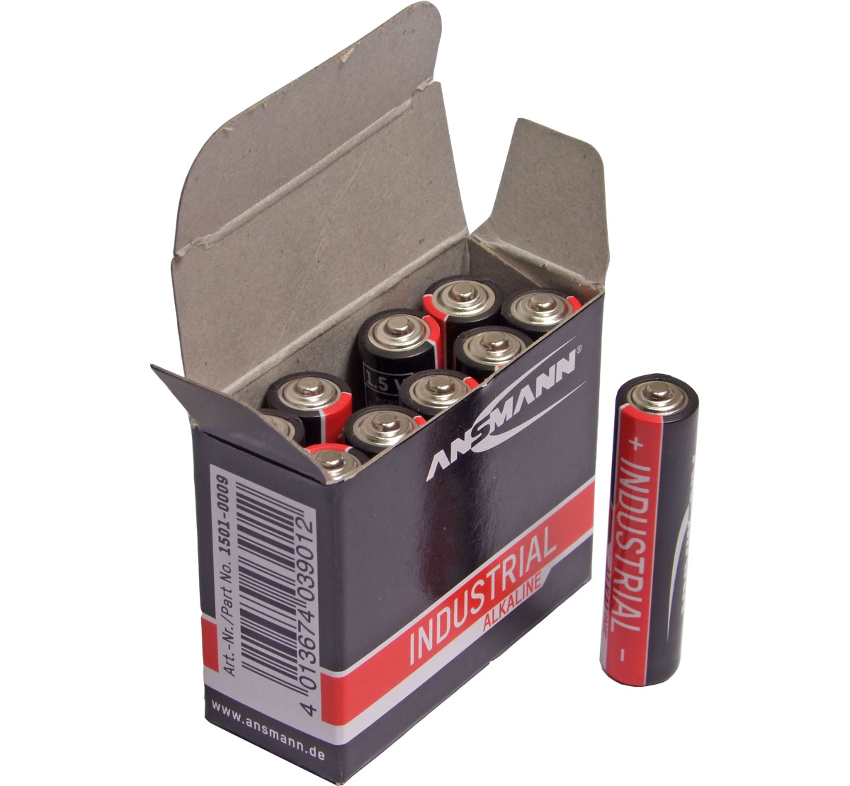 Ansmann Industrial Alkaline AAA / MN2400 Batteries Box 10