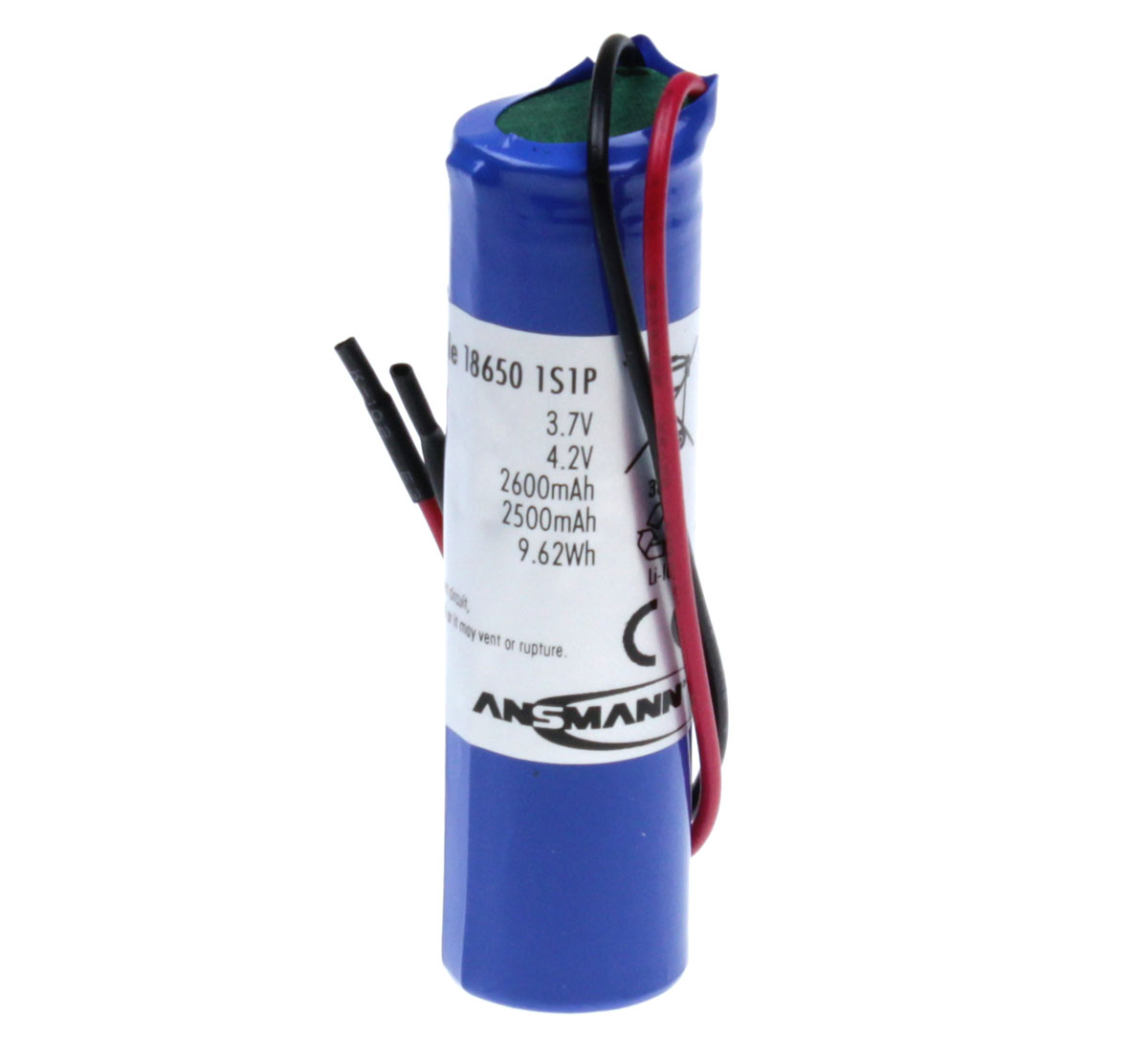 Ansmann Industrial 1S1P 3.7V 2600mAh Rechargeable Li-ion Battery Pack