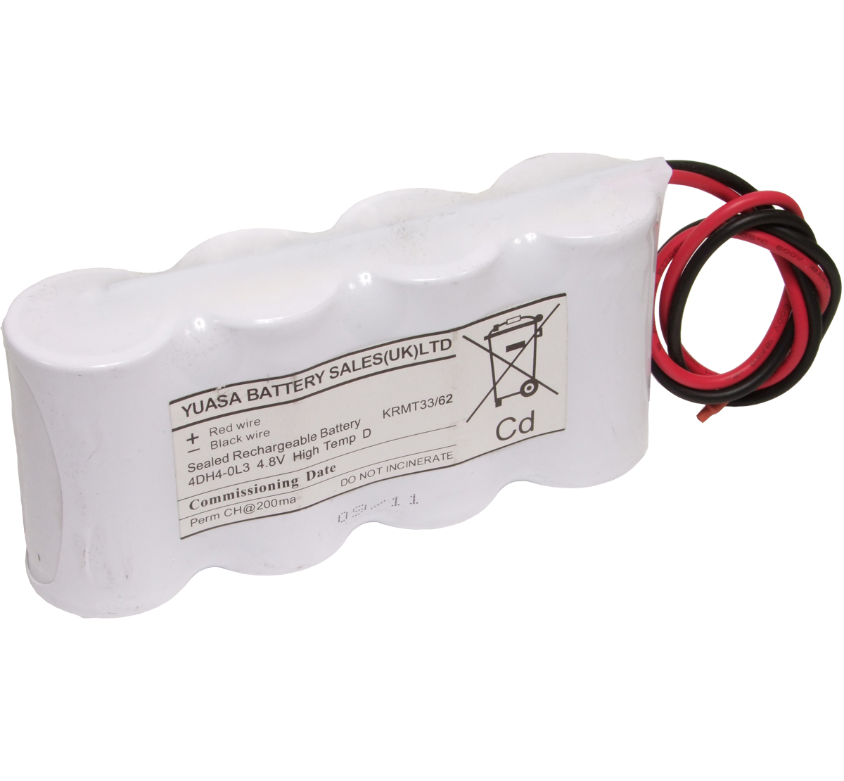 Yuasa 4DH4.0L3 Emergency Lighting Battery