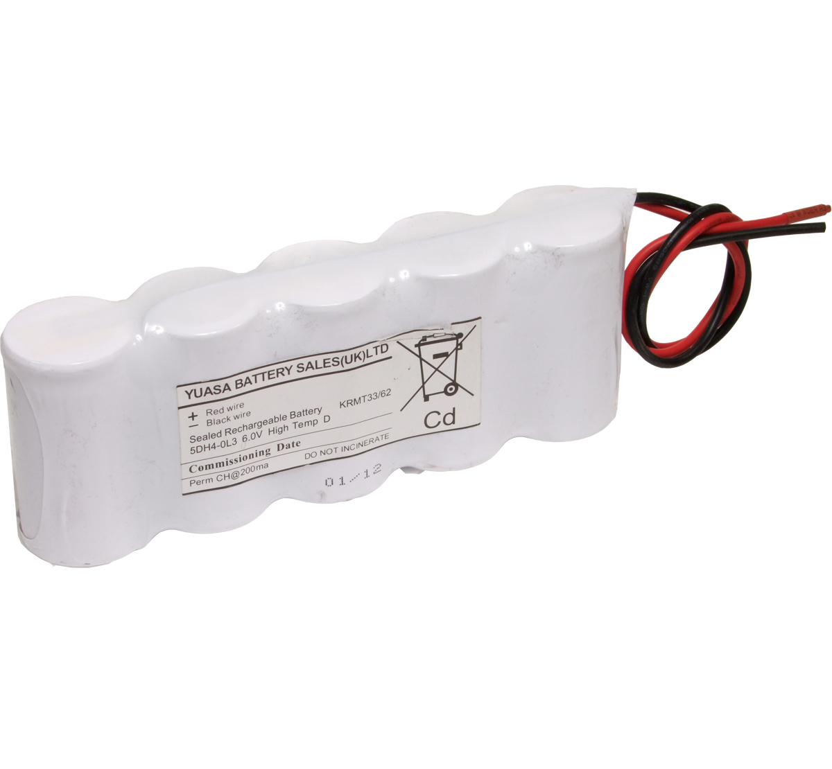 Yuasa 5DH4.0L3 Emergency Lighting Battery