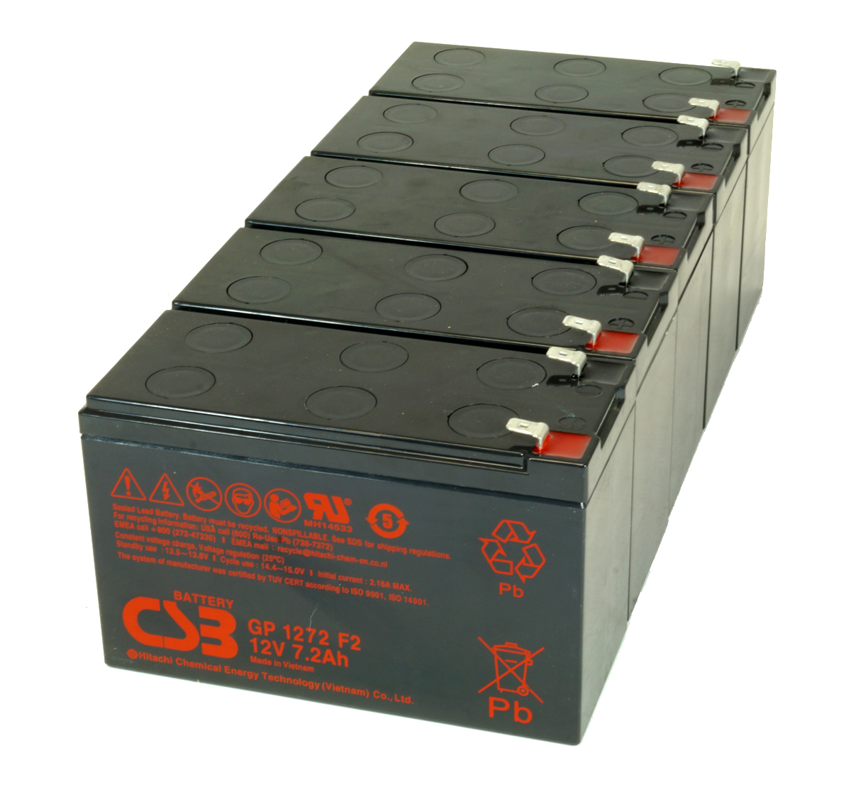 GP1272F2 Pack of 5 Batteries