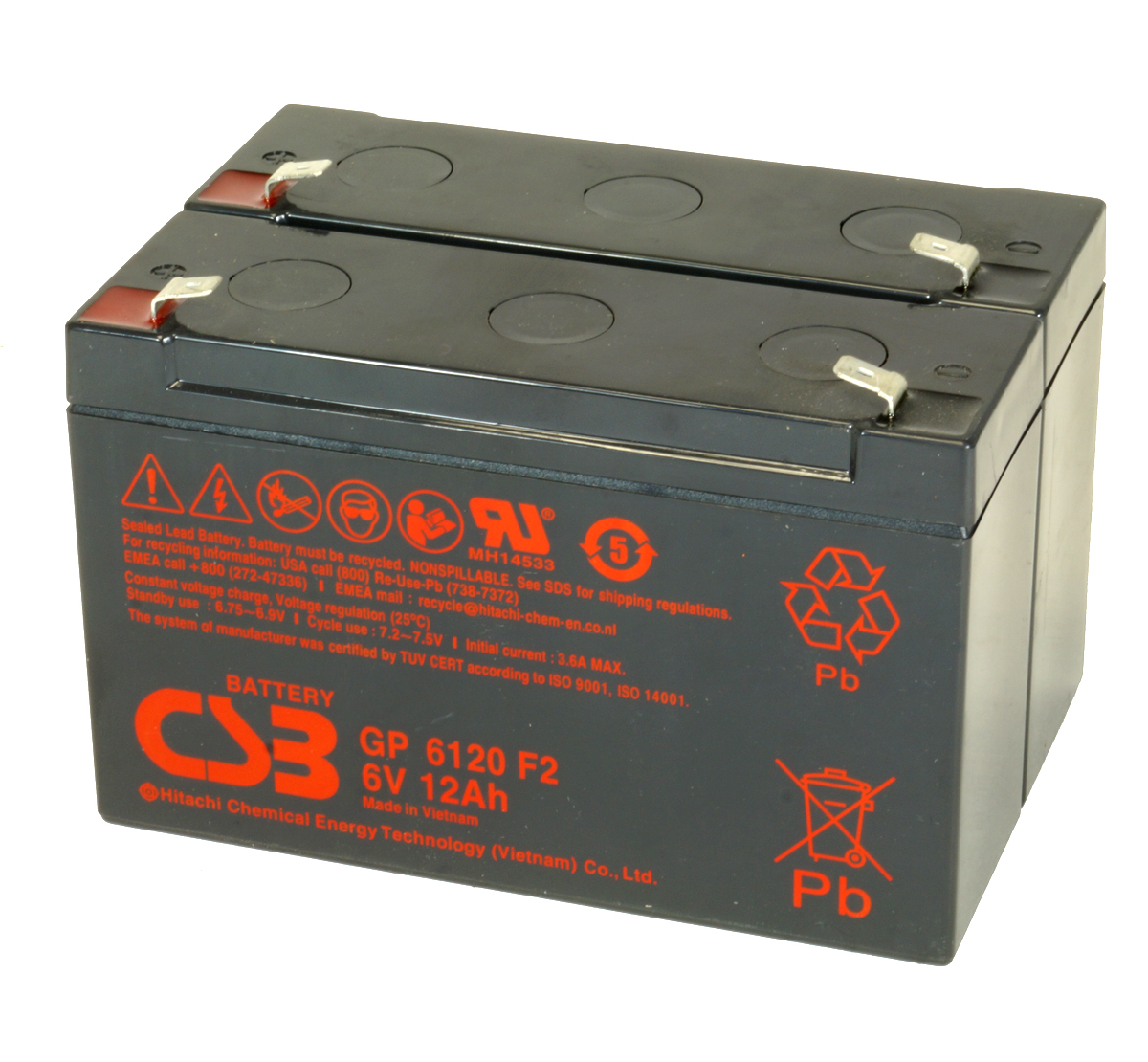 MDS3 UPS Battery Kit - Replaces APC RBC3