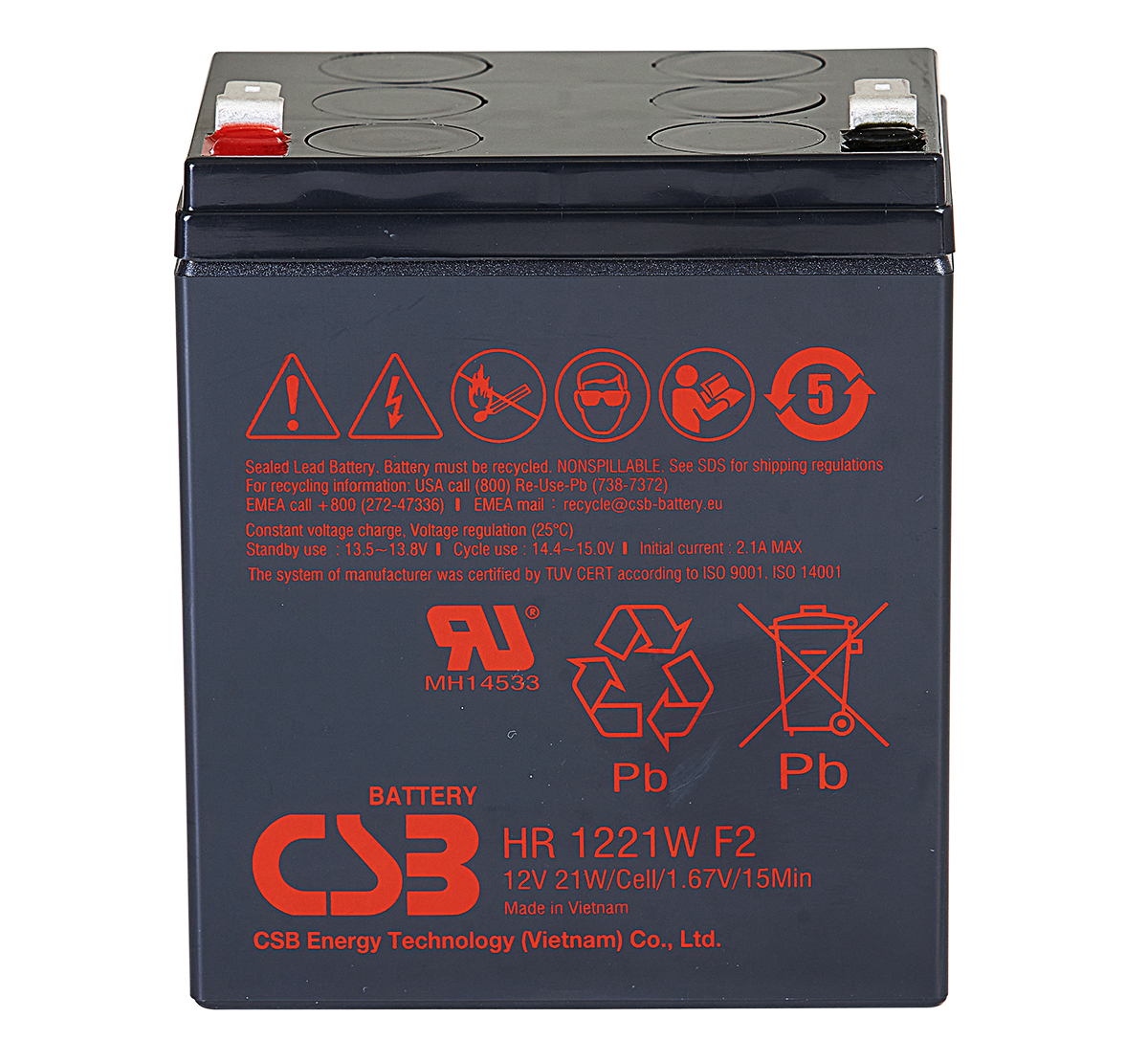 CSB HR1227WF2 High Rate Discharge Battery