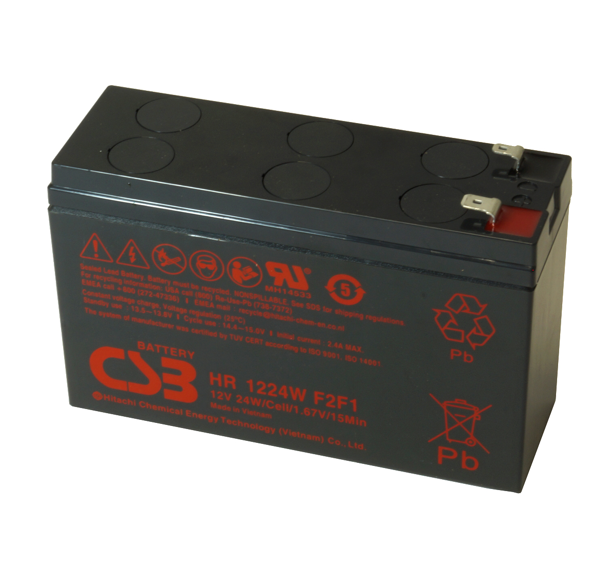 MDS125 UPS Battery Kit - Replaces APC RBC125