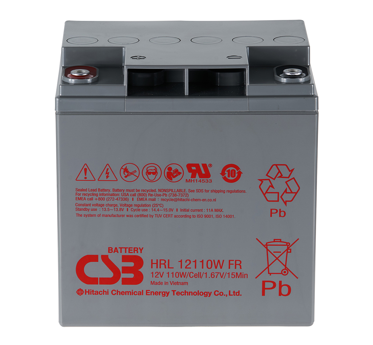 CSB HRL12110W 110W Sealed Lead Acid Battery