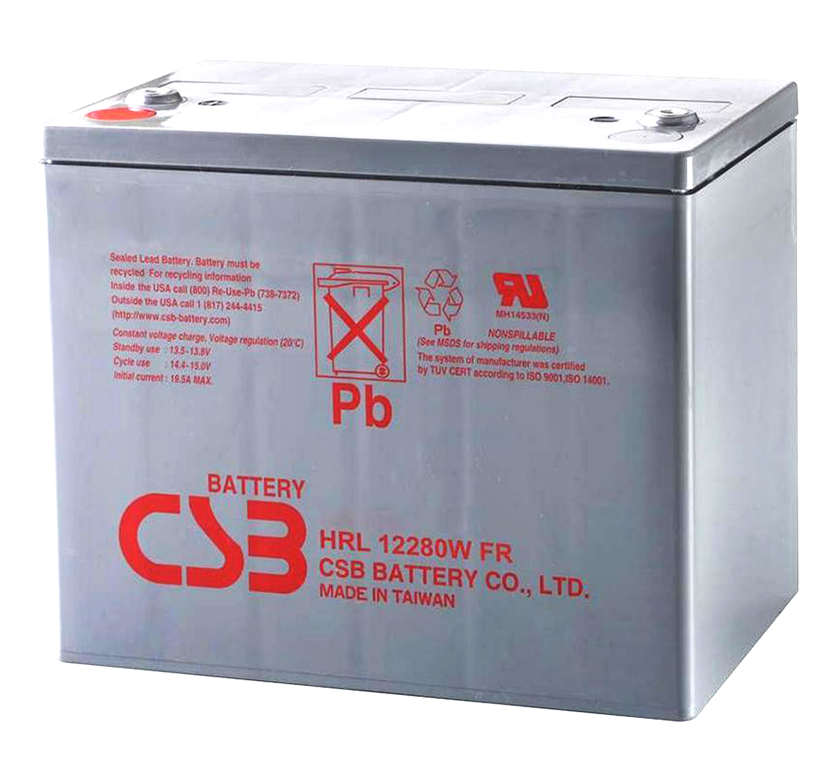 CSB HRL12280W 12V Sealed Lead Acid Battery