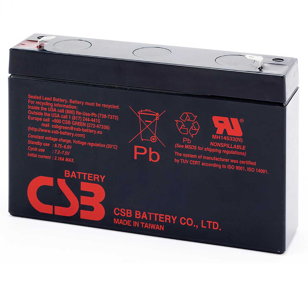 CSB RUM 6290 6V VRLA Lead Acid Battery