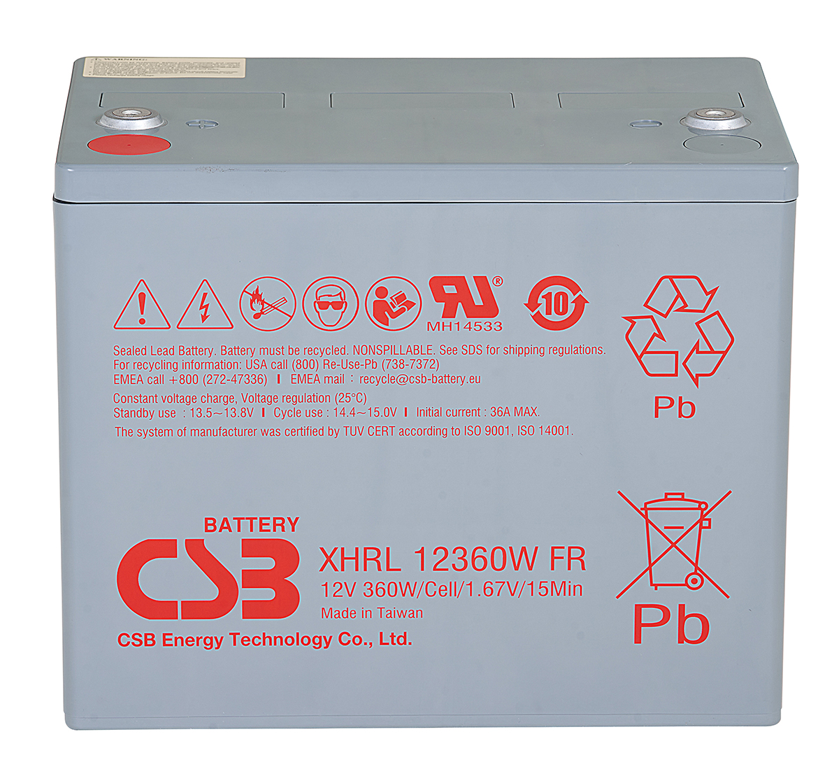 CSB XHRL12360W 360W Extreme High Rate Long Life Battery