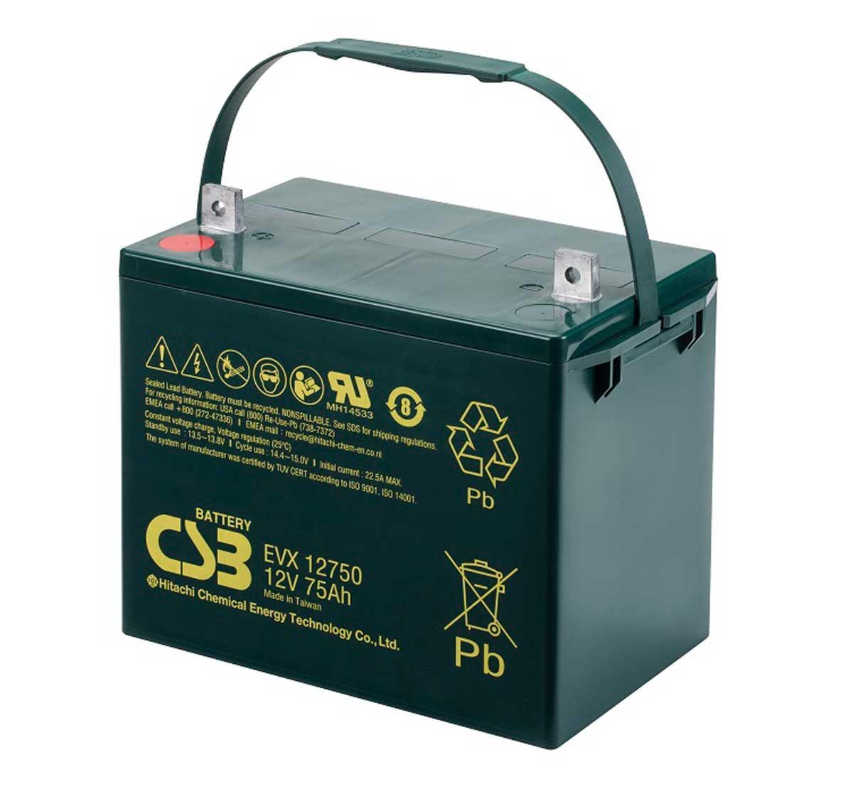CSB EVX12750 12V 72Ah Sealed Lead Acid Battery