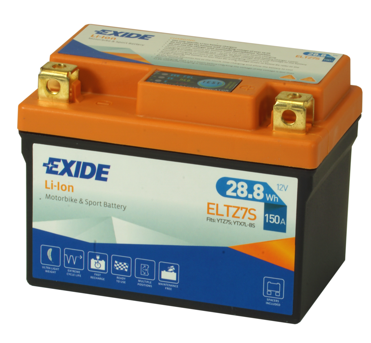 Exide ELTZ7S Lithium Motorcycle Battery